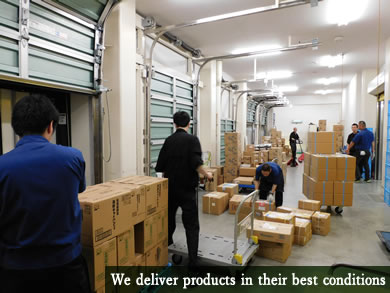 We deliver products in their best conditions